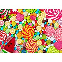 Prosperveil DIY 5D Diamond Painting Full Drill Kits Rhinestone Embroidery Cross Stitch Canvas Wall Art Craft for Living Room Bedroom Home Decor (Muticoloured Candies)