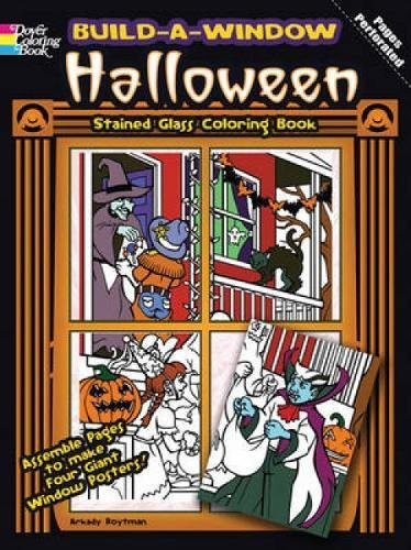 Build a Window Stained Glass Coloring Book Halloween (Build Window Stained Glass Coloring Book)