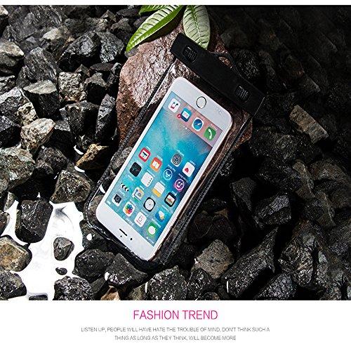 Wasserdichte Hülle,Aomo Wasserdichte Tasche Universal für iPhone 6 6S Plus iPhone 7 Samsung Galaxy A3 A7 A9 Note 7 HTC , usw-Weiß Schwarz