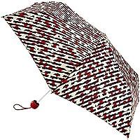 Lulu Guinness Superslim Folding Umbrella - Diagonal Stripe Lip, Mini,