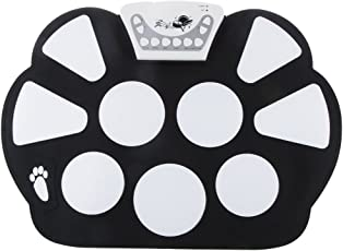 Magideal Electronic Soft Silicone Roll Up Drum Kit with Drumstick