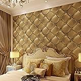 GK-Simple mur de style européen Chambre Fond d'écran de fond DécorationBedroomEuropéen noir cuir-modèle - Best Reviews Guide