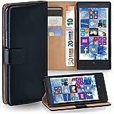 OneFlow Tasche für Nokia Asha 300 Hülle Cover mit Kartenfächern   Flip Case Etui Handyhülle zum Aufklappen   Handytasche Schutzhülle Zubehör Handy Schutz Bumper in Schwarz