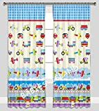Kinder Vorhänge für Kinderzimmer 100% Baumwolle, 155 x 155 cm (transport 2)