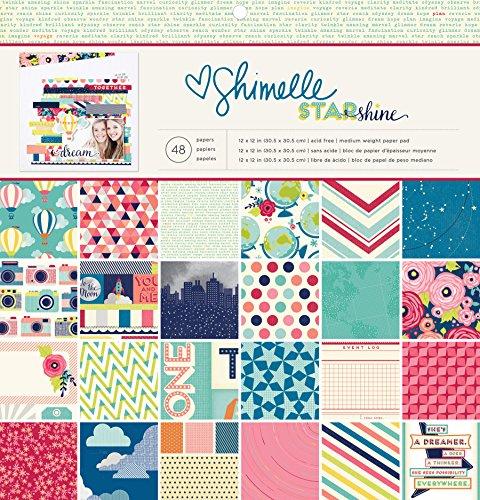 American Crafts Papier Pad 12Zoll x 12Zoll 4Shimelle Starshine, Acryl, Mehrfarbig -