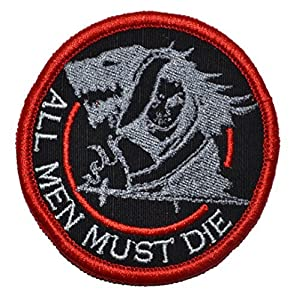 Tactical Gear Junkie Arya Stark - All Men Must Die Game of Thrones Parody 3in Diameter Military Patch / Morale
