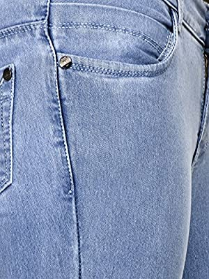 Buttun Silky Soft Skinny Denim Cotton Jeans For Women