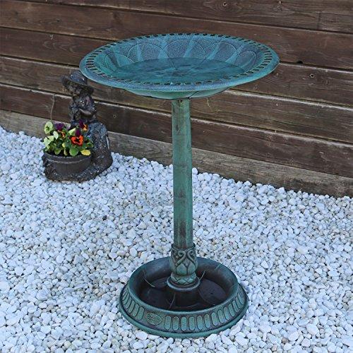 Vasca da giardino per uccelli VGT2 abbeveratoio per uccelli con Base per piantare disegno antico decorazione esterna beverini da giardino terrazza balcone