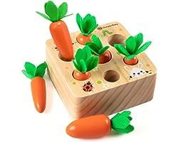 XIAPIA Juguetes Montessori 1 Años,Juguetes de Madera Niños Juego de Clasificación Rompecabezas Juguetes Educativos Regalo Beb
