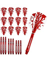 Harrows rapide Combo Kit–Dart ailettes et tiges Combo Kit–Rouge–avec Fléchettes d'angle Curvy Ballpen