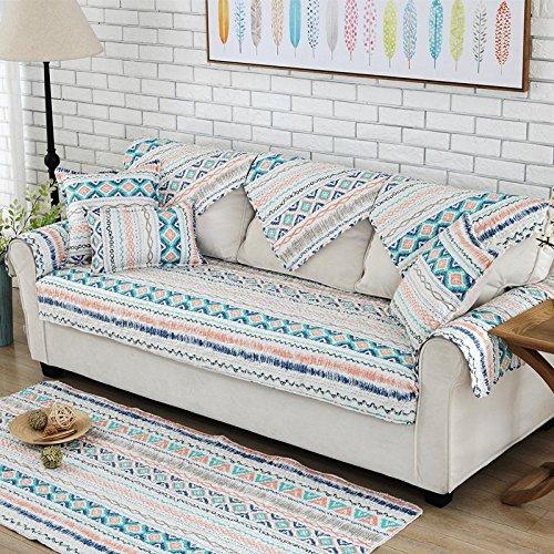 AISHUAIGE HUANZI Sofa Abdeckung 1 2 3 4 sitzer Abdeckung einfache einfache Baumwolle Twill rutschfeste Sofa Schutz Slip Cover, 2 -