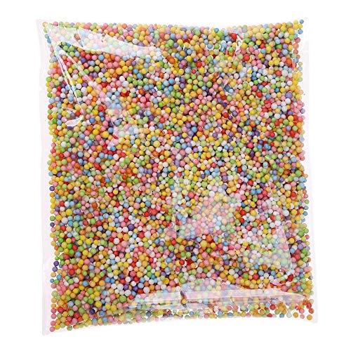Clarashop Styrofoam Balls Slime Polystyrène Mousse Spheres Colorées Perles De Remplissage Décor pour Floam Filler Arts Artisanat Fournitures Mousse Perle Boule DIY Mini Boule(Multicolore)