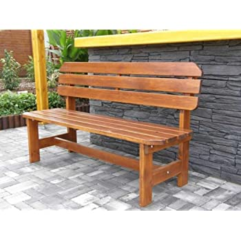 Massivholz Gartenbank ORB Kiefer unbehandelt , B 150 cm , Holz 32/28 mm !