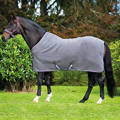 Deluxe Charcoal (Rambo Deluxe Fleece-Abschwitzdecke Teppich, Charcoal/Silver, 57/4ft 9)