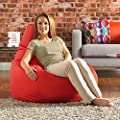Bean Bag Bazaar Designer Recliner Gaming Bean Bag, Slate Grey - Water Resistant Indoor Outdoor BeanBag Chair, Living Room Bean Bags