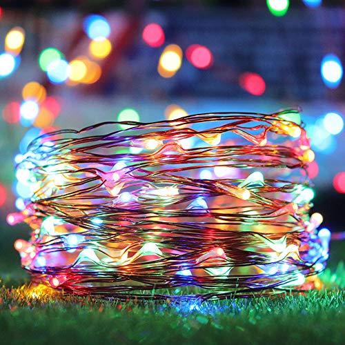kupferdraht 200LED Lichterkette, 22 Mt Wasserdichte feenhafte licht weihnachtsgarten Urlaub Dekoration,Colorful ()