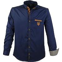 Lavecchia Camicia da Uomo Trendy Grandi Taglie Navy