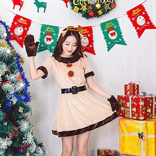 Olydmsky Weihnachten Kostüm Adult Christmas Kleid Santa Claus Kostüm Party Prinzessin Rock