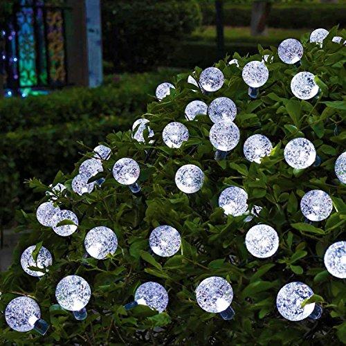 Solar String Lights, OxyLED 30 LED Garden Patio Outside Solar String Light,Waterproof Indoor/Outdoor String Lights, Great Garden Terrace Patio Outside Xmas lights(White Light)