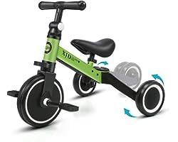 XJD 3 in 1 Triciclo per Bambini Bicicletta Equilibrio Adatto per età 1-3 Anni Certificazione CE Upgrad 2.0 (verde)