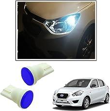 Vheelocityin Car / Bike Ceramic Button Shape Blue LED Parking Bulbs (set of 2) For Datsun Go