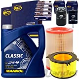 Filterset Inspektionspaket 5L Mannol Classic 10W40 4 Beru Zündkerze UXT2 1 Luftfilter 1 Filter, Innenraumluft 1 Kraftstofffilter 1 Ölfilter