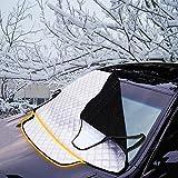 FREESOO FUNDA PROTECTORA COCHE para PARABRISAS Cubierta de Parabrisas ventana delantera Lunas aluminio cubierta de nieve hielo polvo Protector parasol 183cm x 116cm