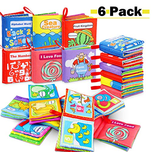 Libros Blandos para Bebé 8 unids Libro de Tela de Educación Temprana Juguete Mano Libro Animal Figura de Cognición Anti-Tear Libro de Tela