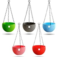 Kraft Seeds Hanging Planter Euro Elegance Round Solid Look and Feel Pots for Home & Balcony Garden 17.5cm Diameter (Pack…