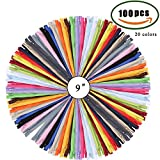 Reißverschluss Set ManYee 100 PCS 20 Farbe Nylon Reißverschlüsse für Reparatur und Hestellung von Kleidung Taschen Kopfkissen Mäppchen Wäschesack Stiefel T-Shirt Kinder Kleidung
