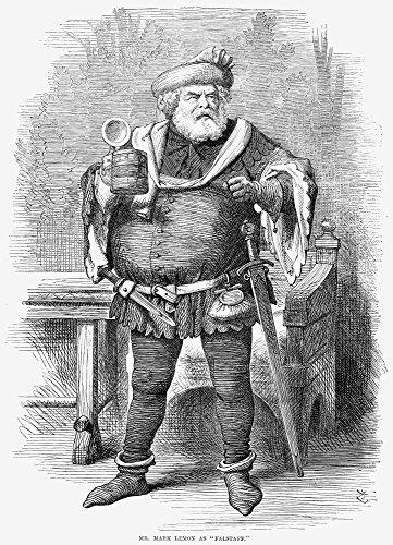 Mark Lemon (1809-1870). /Nenglish Editor and Writer. Wood Engraving English 1868. Kunstdruck (45,72 x 60,96 cm) -
