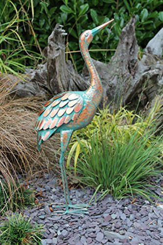 Patina Crane Garten Metall Statue Rasen Ornament