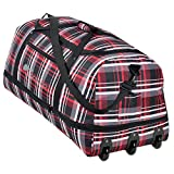 XXL Rollenreisetasche COCOONO 100-135 Liter Volumen Reisetasche faltbar Trolley Koffer STORM Tasche (Red Checker ( Rot kariert ))
