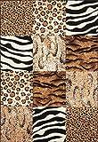 Kayoom Moderner Designer Teppich USA - Chicago mit Tierfell Muster | Patchwork Optik, Größe:160x230cm