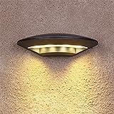 Outdoor wasserdichte LED-Wandleuchte, Innenhof, Außenbeleuchtung, Balkon Terrasse einfache kreative Outdoor anti-Rost Wandleuchte, 24,5 * 12,5 * 6,5 cm