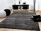 Sevilla Designer Teppich Modern Anthrazit Trend in 5 Größen