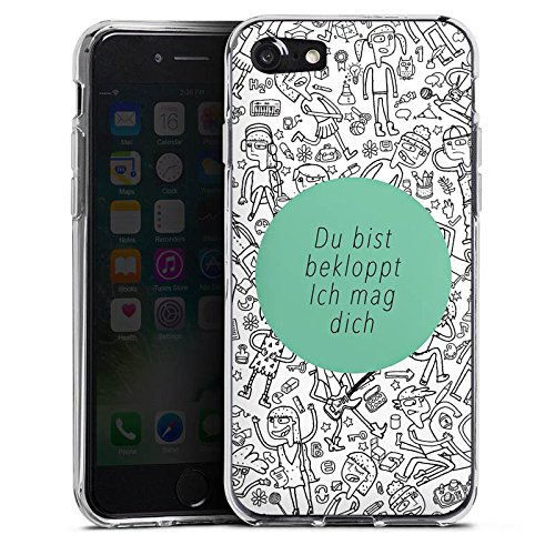 Apple iPhone X Silikon Hülle Case Schutzhülle Verrückt Crazy Sprüche Silikon Case transparent