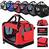 WOLTU HT2026rt Hundebox Hundetransportbox Auto Transportbox Reisebox Katzenbox mit Hundedecke...