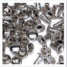 naisidier 100 piezas 10 mm redondo hierro remaches rápidos espárragos para decorar, apriete piel Craft