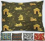 Kissen für Hundebett,waschbare Bezüge mit abnehmbarem Reißverschluss, 2 Stück-Größen: M, L und XL. Nur Kissenbezüge. Zufällige Farben. Neueste Designs.