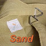 hanSe® Marken Sonnensegel Sonnenschutz Segel Rechteck 6x8 m Sand