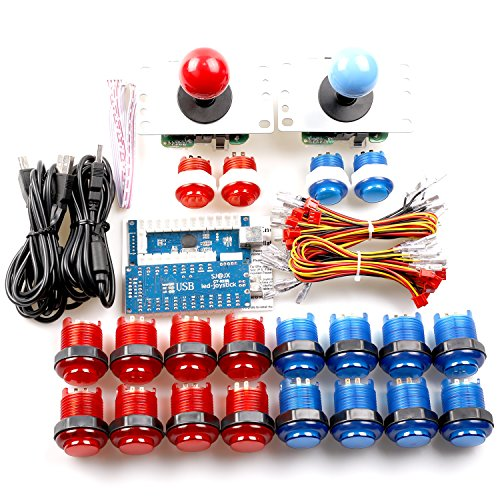 Reyann LED Illuminated Arcade DIY Kits Bundles LED USB PC Encoder Board...