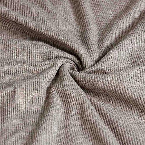 Malloom® Robe moulante d'hiver du parti à manches longues femmes zip sexy v cou Gris