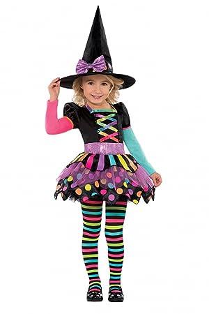 Bevorzugt Déguisement sorcière coloré fille Halloween - 3 à 4 ans: Amazon.fr  IO01