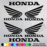 6 PEGATINAS LOGO MOTO HONDA (4 Logos y letras HONDA de 10 cm x 8 cm. Y 2 Letras HONDA de 16 cm x 2 cm) VINILO ADHESIVO VINIL STICKER DECALS AUFKLEBER