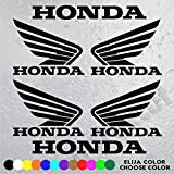 6 Stickers Logo Moto Honda (4 Logos and Letters Honda 10 cm x 8 cm and 2 Letters Honda 16 cm x 2 cm) Vinyl Adhesive Vinyl Sticker Decals Aufkleber