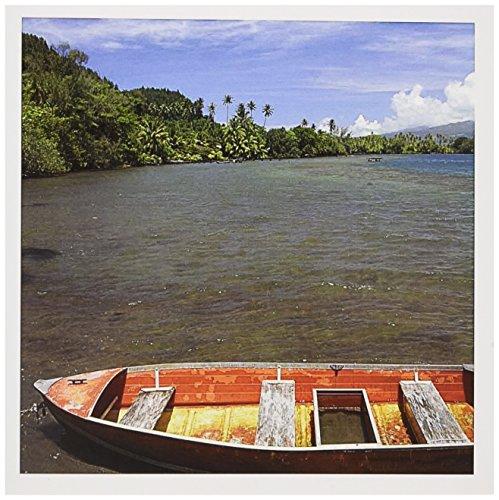 Tahiti Rose Single (Französisch-Polynesien, Tahiti, Zeile Boot-Cindy Miller hopkins- Grußkarte, 15,2x 15,2cm, Single (GC 85027_ 5))