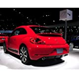AniFM Rear Spoiler Fit for VW Beetle 2013 to 2018, Gloss Black Rear Spoiler,Red