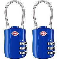 [2 Stück] TSA Gepäckschlösser, Diyife 3-stelliges Sicherheitsschloss, Kombinationsschlösser, Codeschloss für Reisekoffer…