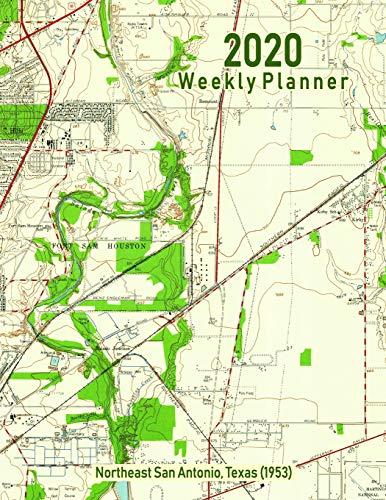 2020 Weekly Planner: Northeast San Antonio, Texas (1953): Vintage Topo Map Cover